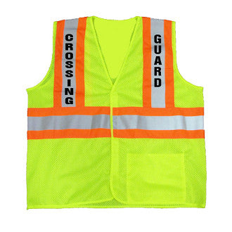Crossing Guard Class 2 Vest with Contrasting Trim, M - 5XL