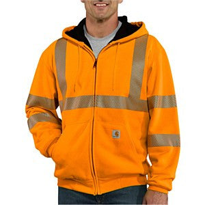 Carhartt 100504 Class 3 thermal lined full zip hoodie, S-4XL, XL - 3XL Tall