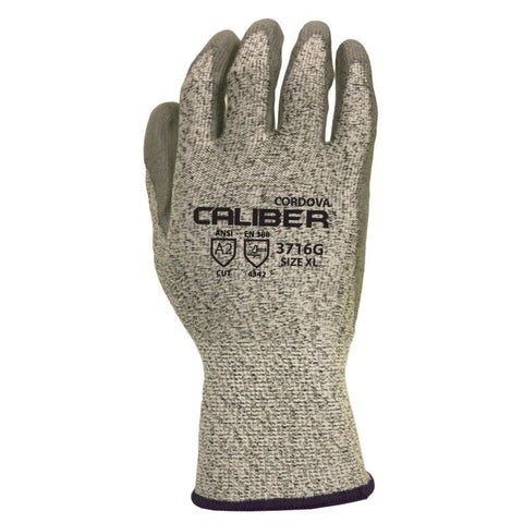 Cordova 3716P ANSI Cut Level 2 Polyurethane Glove, XS - 2XL (By the dozen only)