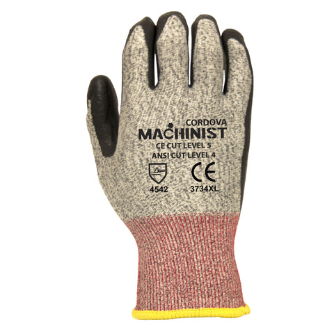 Cordova Glove 3734 ANSI Cut Level 4 Nitrile Glove, XS - 2XL (By the dozen only)
