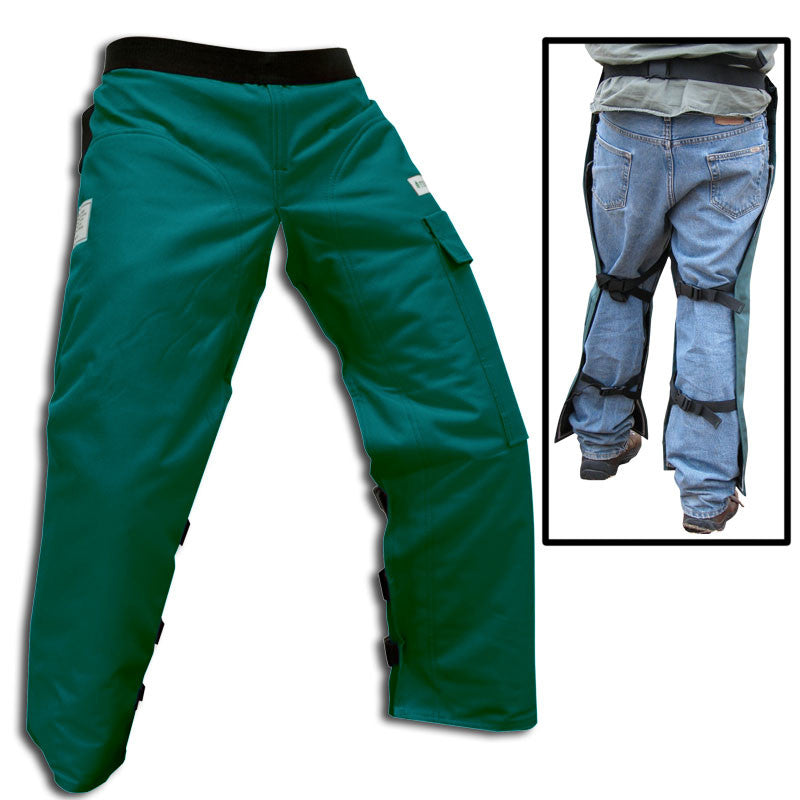 "Forester CHAP437-G Regular 37"" Apron Style Green Chainsaw Chaps"