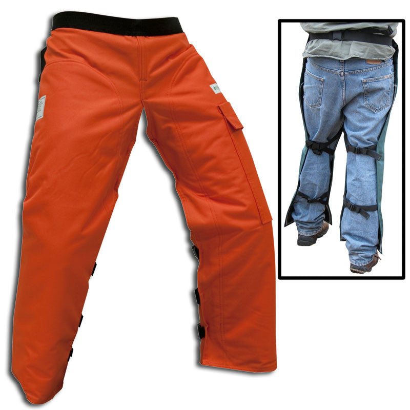 "Forester CHAP435-O Short 35"" Apron Style Orange Chainsaw Chaps"
