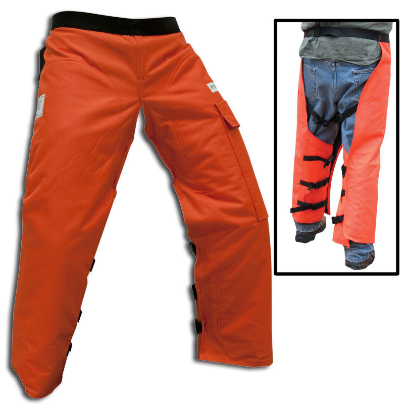 "Forester CHAP737-O 37"" Regular Wrap Around Chainsaw Chaps Orange"