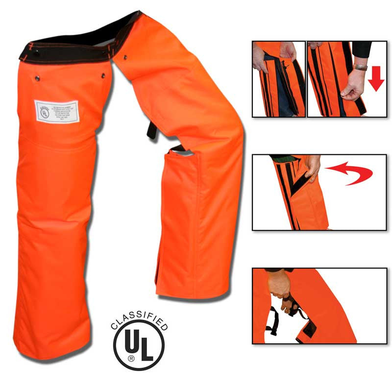 Forester ZIPCHAP-O Zipper Chainsaw Chaps Orange