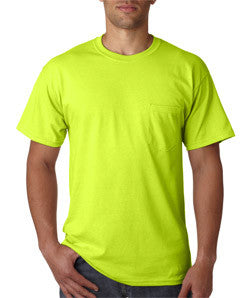 Gildan 2300 pocket tee, 50/50, 6 oz, S-5XL