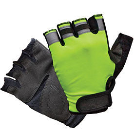 GFP 495 Fingerless hi viz work glove, XS - 2XL