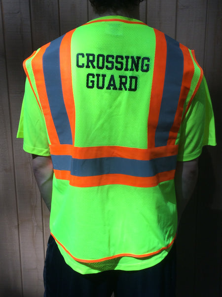 Crossing Guard Class 2 Vest With Contrasting Trim M 5xl
