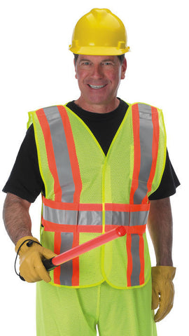Lakeland V+AM-OSC2GB-CG, Class 2, 4 pt breakaway vest, multi sized, Crossing Guard silk screened on back