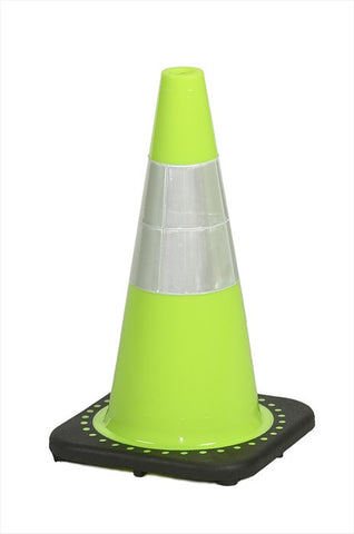 "18"" traffic cone, 4#, lime"