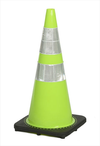 "28"" traffic cones, 7#, lime"