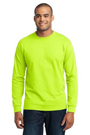Port & Co PC55LS long sleeve tee, TALL sizes, 5.5 oz, 50/50 blend, S - 6XL, Large - 4XL Tall