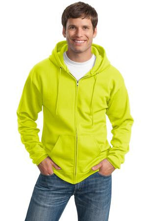 Port & Co. PC90ZH, 9 oz full zip hooded sweatshirt, Small - 4XL, Large Tall - 4XL Tall