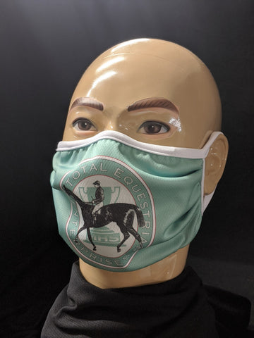Polyester Pleated Face Mask, Washable & Reusable, MADE IN USA