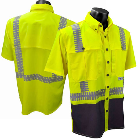 Radians SW11-2 Class 2 Short Sleeve Ripstop Wind Shirt, M - 5XL