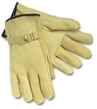 Radnor 7490 unlined grain cowhide with pull strap drivers glove