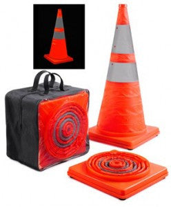 "Collapsible traffic cones, 18"" & 28"""