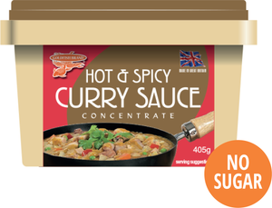 CASE of Hot & Spicy Curry Sauce 12 x 405g