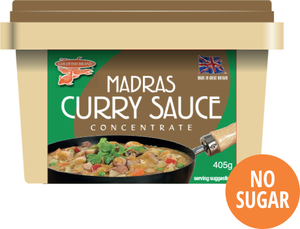 CASE of Madras Curry Sauce 12 x 405g