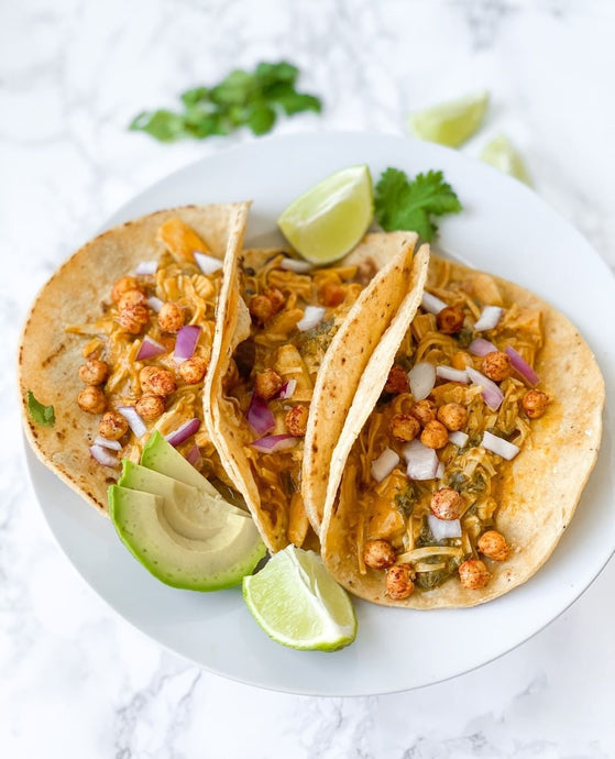 CURRIED JACKFRUIT TACOS
