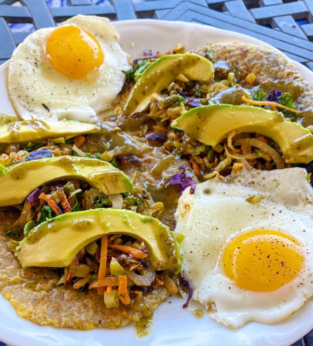 VEGGIE BREAKFAST TACO W/EGGS