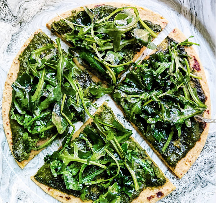 VEGAN ARGULA PESTO PIZZA