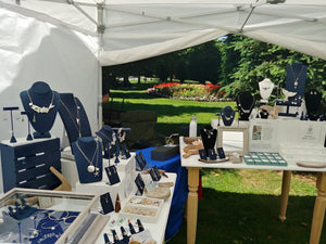 hkm Jewelry booth outdoors at the Cape May MAC center Hops Festival 2019