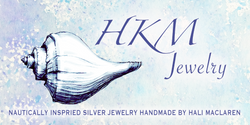 HKM Jewelry logo, nautically inspired silver jewelry handmade by hali maclaren