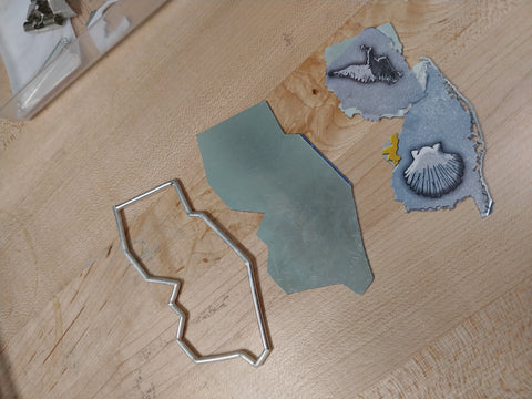 parts to the puzzle cut for soldering