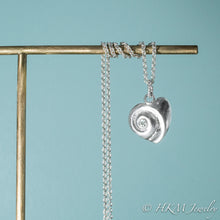Load image into Gallery viewer, Heart Of The Sea Necklace - Silver Swirl Shell Necklace