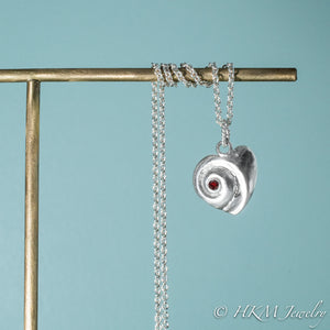 Heart Of The Sea Necklace - Silver Swirl Shell Necklace