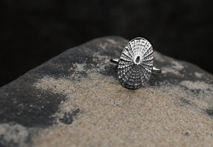 Limpet Shell Ring - Cast Seashell Ring - Sterling Silver Shell
