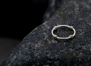 Lifesaver Ring Band - Silver and Gold Kisby Ring