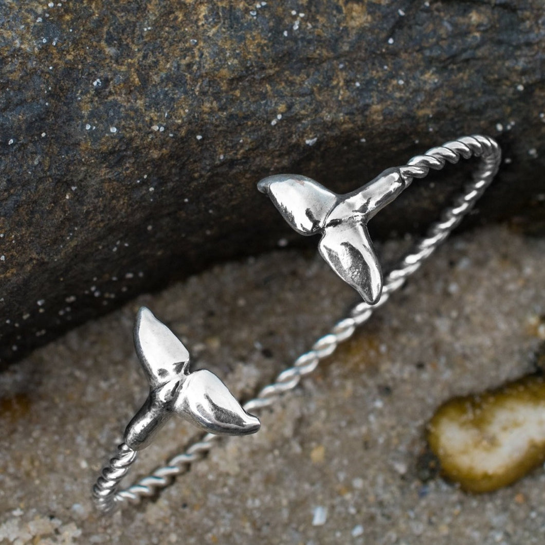 Silver Sea Tail Cuff - Twisted Bracelet