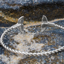 Load image into Gallery viewer, Silver Sea Tail Cuff - Twisted Bracelet