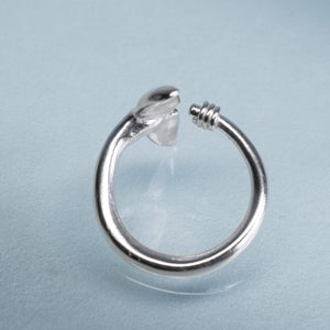 side view of Sea Tail Adjustable Ring by hkm jewelry