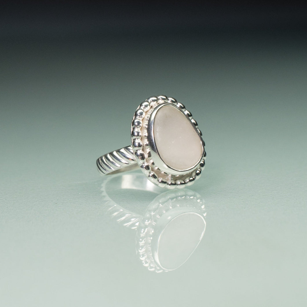 Chubby Beaded Cape May Diamond Beach Pebble Ring