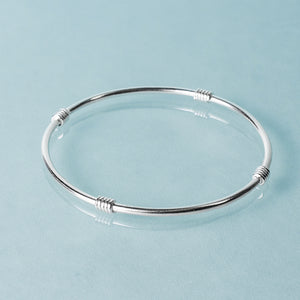 sterling silver Life saver bangle by hkm jewelry