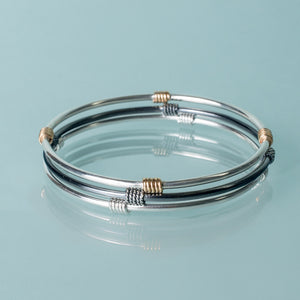 3 stacking bangles in Kisby Ring design by hkm jewelry