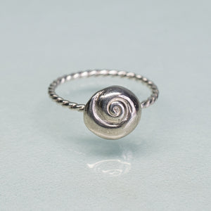Cast Silver Seashell Ring - Choose Your Shell