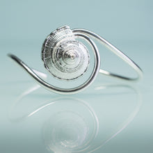Load image into Gallery viewer, Whelk Wave cuff custom made by hali maclaren of hkm jewelry