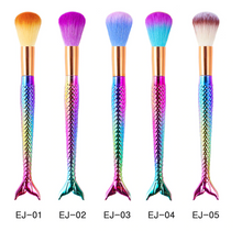 Load image into Gallery viewer, GRADIENT MERMAID MAKE UP BRUSHES