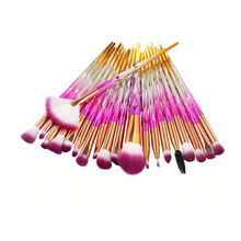Load image into Gallery viewer, DIAMOND MAKE UP BRUSHES 20pcs