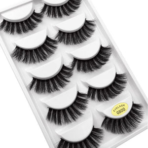 GIRL SQUAD - 5 Pairs Mink Dramatic Lashes