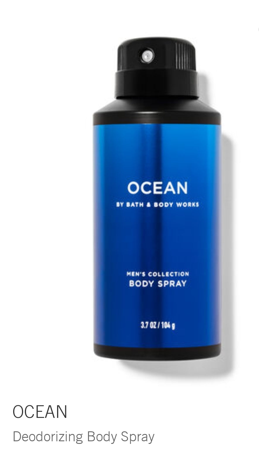 Ocean body spray