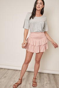 THE CLAIRE SKIRT - ROSE