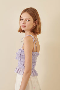 SELF TIE TOP - LAVENDER
