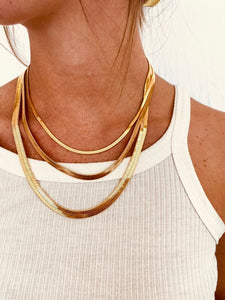 SNAKE CHAIN NECKLACE - ALV JEWELS
