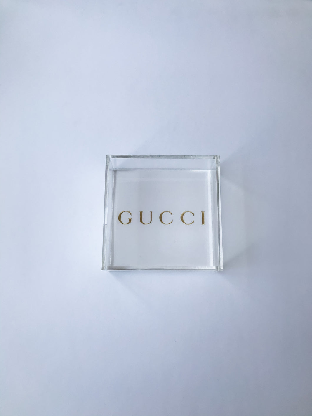 GUCCI GOLD (6x6) TRAY  - BACK ORDERED