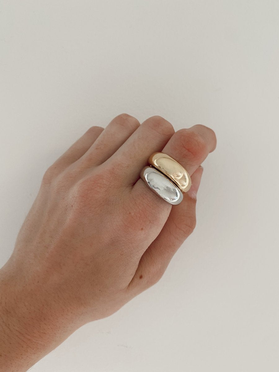 BUBBLE BAND RING - GOLD - ALV JEWELS