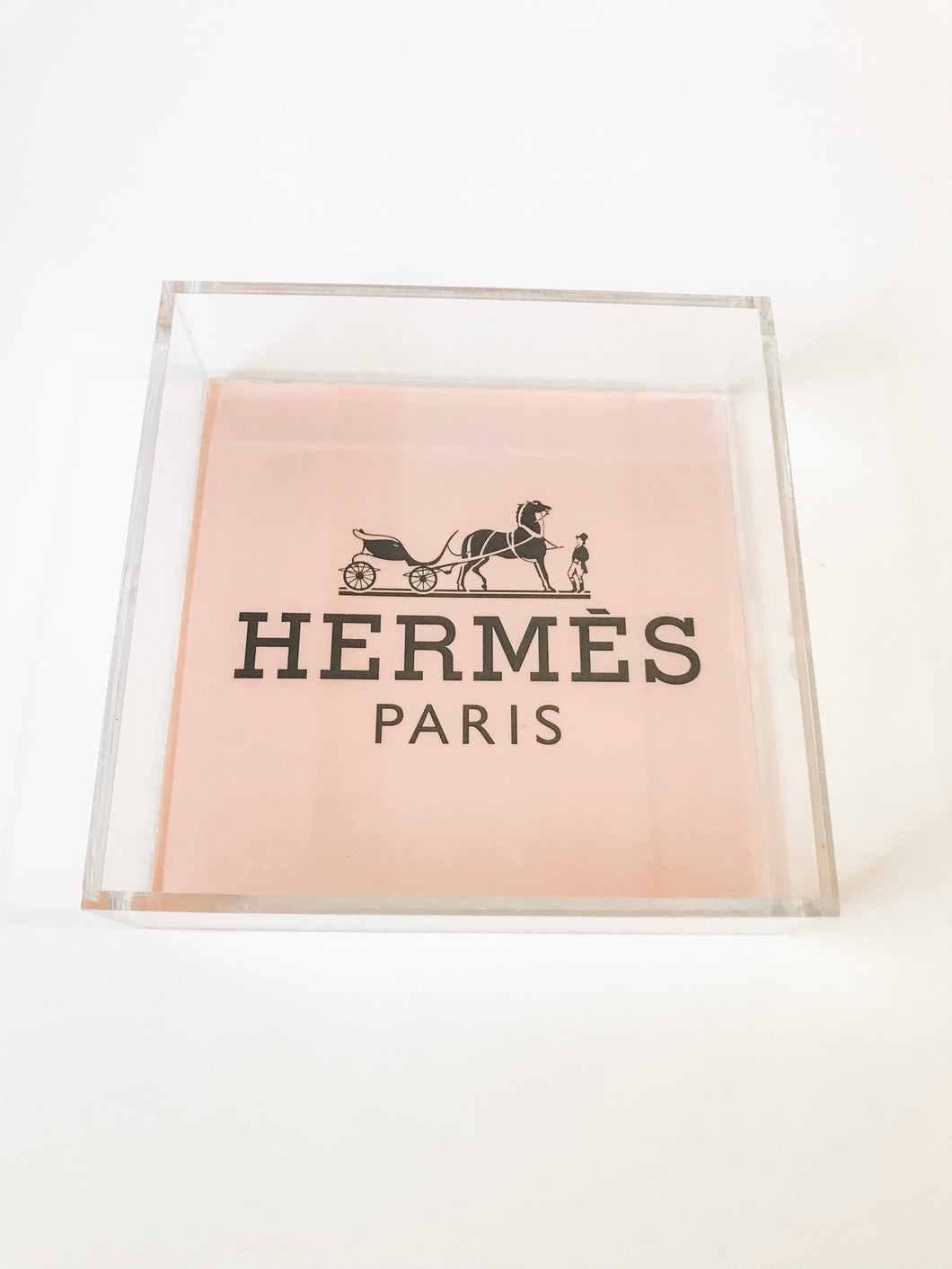 HERMES (8X8) TRAY - BLUSH - BACK ORDERED